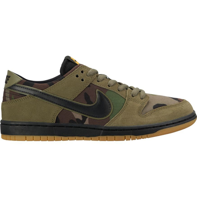 Nike SB Dunk Low Pro Skate Shoe - Medium Olive/Black/Light Gum-Brown