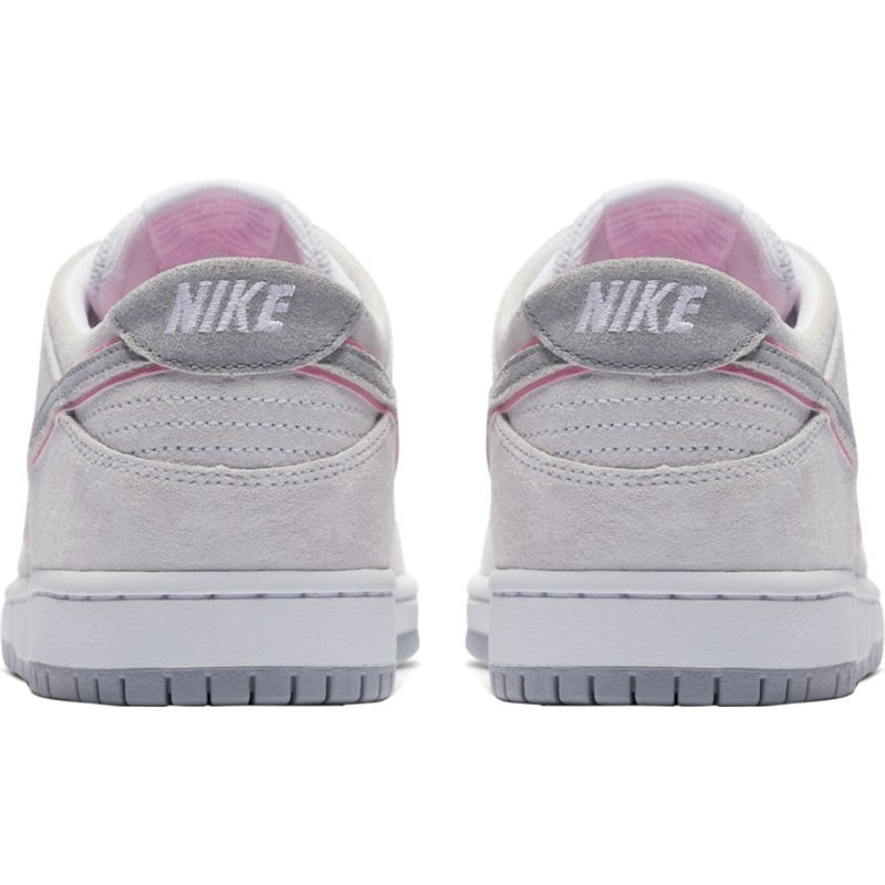 Nike SB Dunk Low Pro IW Skateboarding Shoe - White/Perfect Pink/Silver