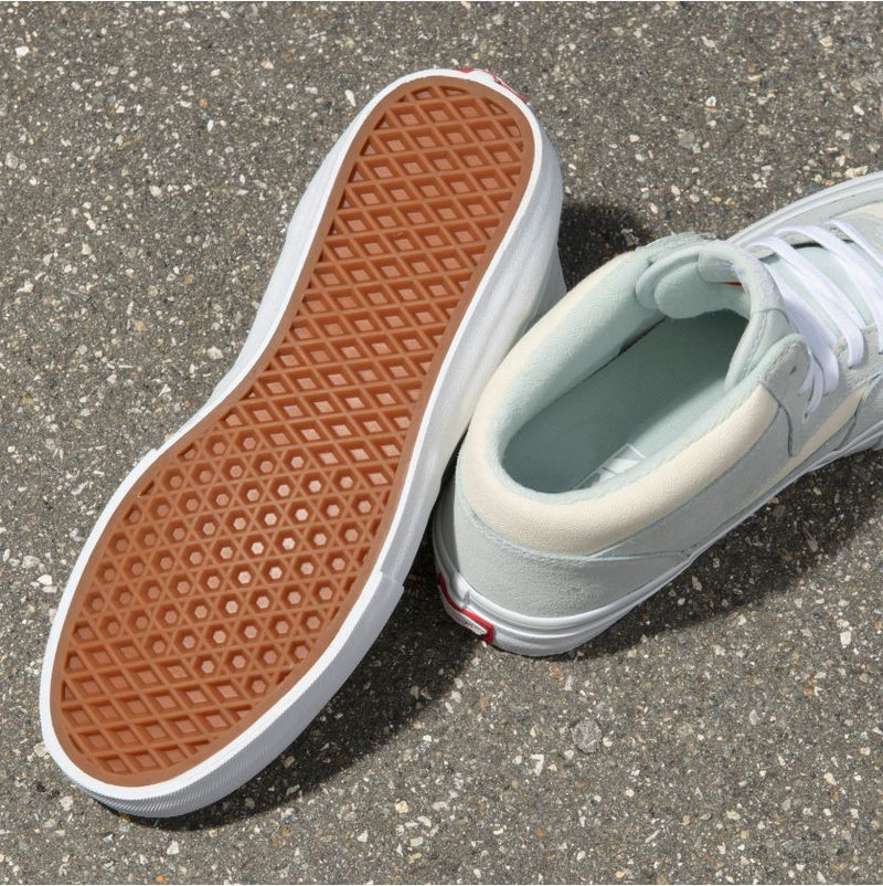 Sprout Green Half Cab Pro Vans Skate Shoes Bottom
