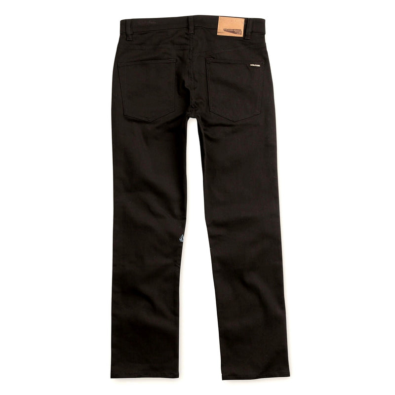 Volcom Solver Modern Straight Jeans - Black on Black