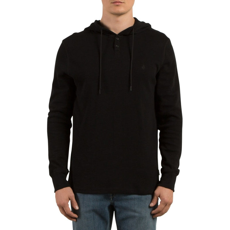 Volcom Murphy Hooded Thermal Shirt - Black