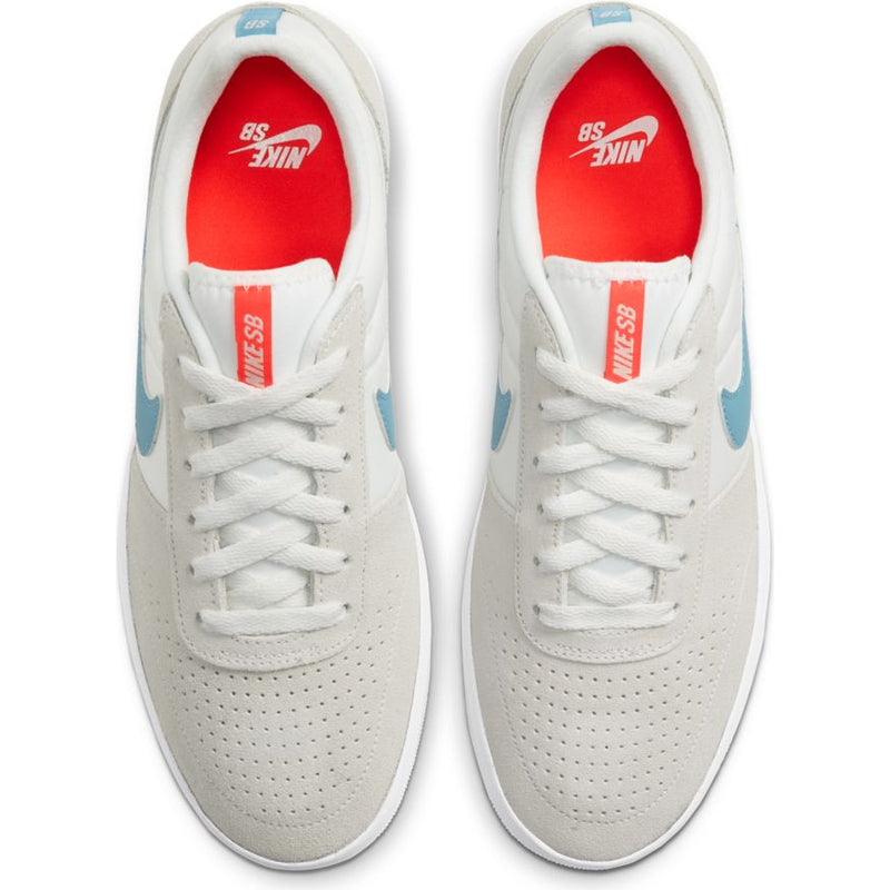White Team Classic Nike SB Skateboarding Shoe Top