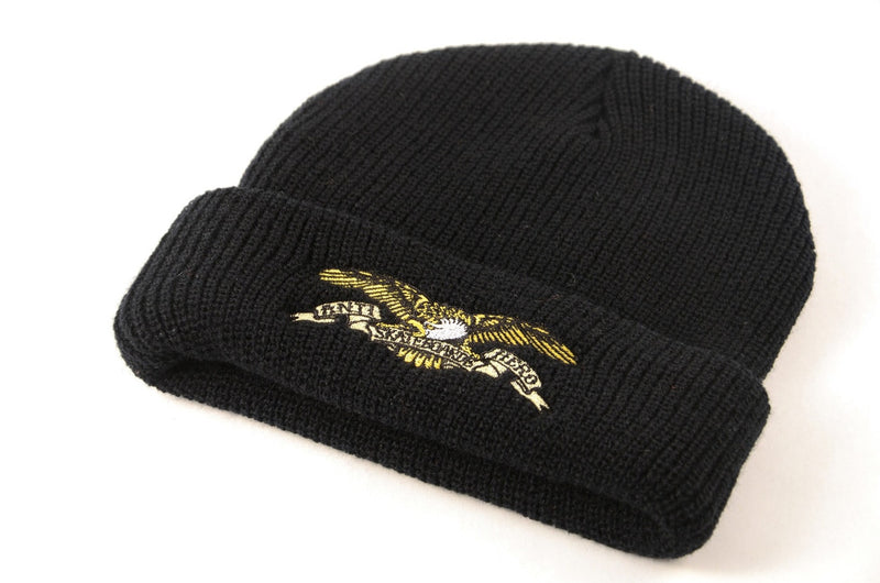 Antihero Embroidered Cuff Beanie - Black