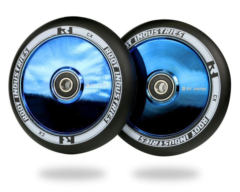 Root Industries Air Scooter Wheels - Black/BlueRay (Set of 2)