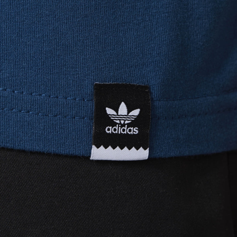 Adidas Solid Blackbird Logo Tee - Blue Night