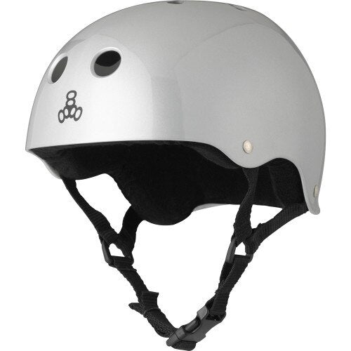 Triple 8 Brainsaver Helmet - Silver
