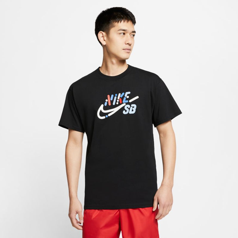 Black Yoon Air Logo Nike SB T Shirt Model Front