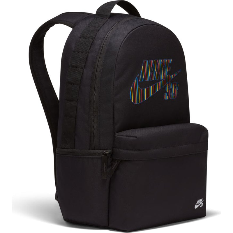 Black Nike SB Icon Skate Backpack Front