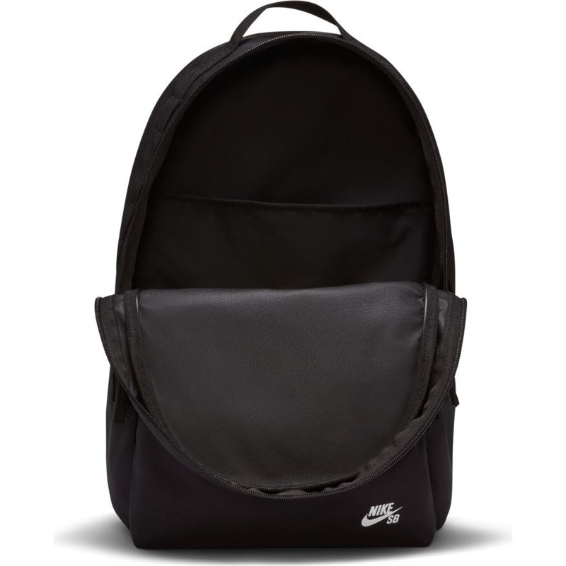 Black Nike SB Icon Skate Backpack Inside