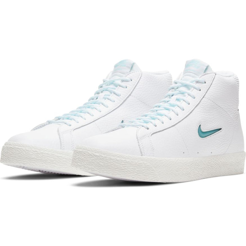 Premium Northwest Leather Blazer Mid White Nike Sb Skateboarding Shoe Front