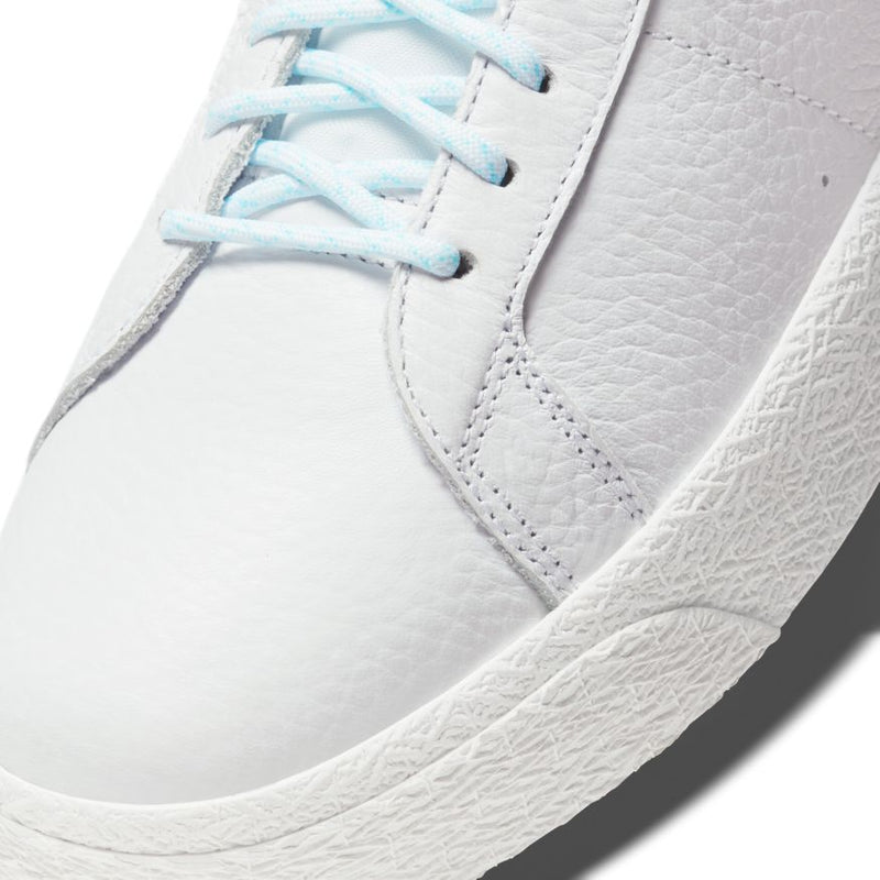 Premium Northwest Leather Blazer Mid White Nike Sb Skateboarding Shoe Detail