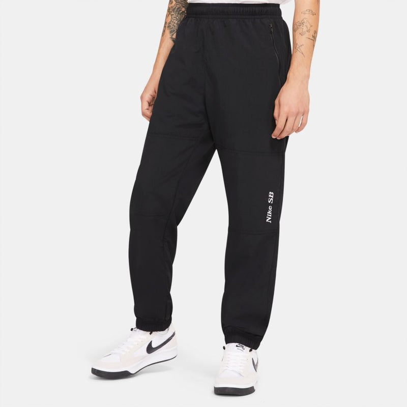 Black Graphic Nike SB Track Pants