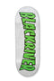 White Thrasher Logo 7Ply Blackriver Fingerboard Deck