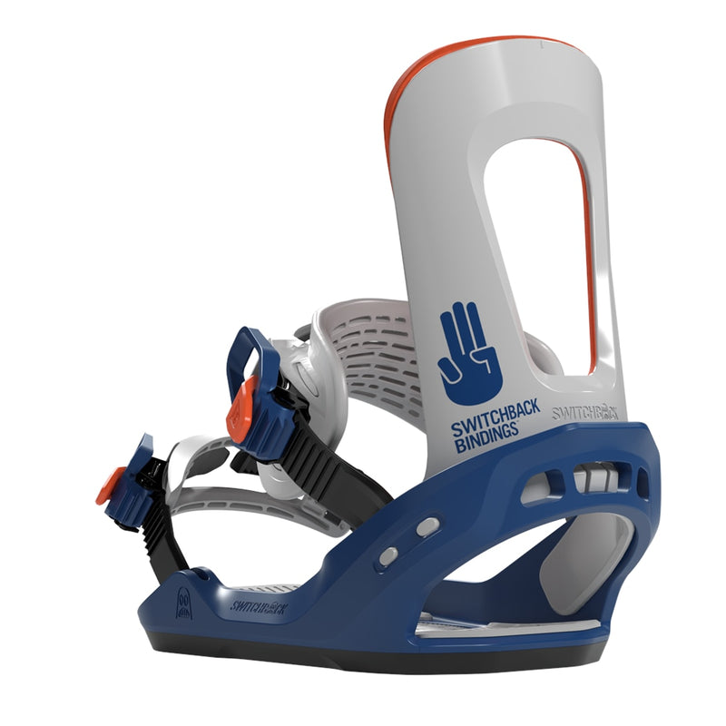 Switchback 2020 Chaser (Destroyer) Snowboard Bindings - Blue/Grey/Orange