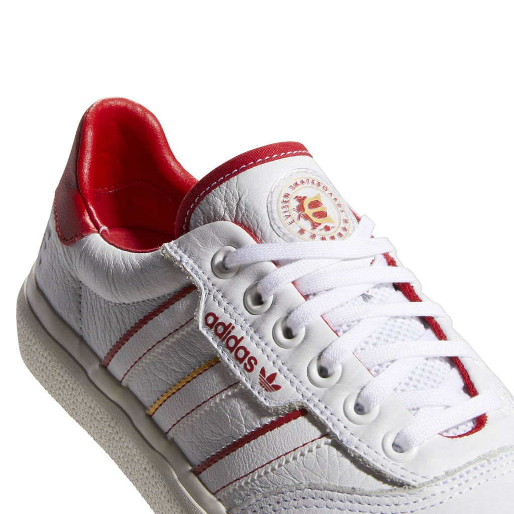 Mercurio liderazgo Pensionista  Adidas 3MC x Evisen Vulc Skateboard Shoe - White/Scarlet/Gold – Exodus Ride  Shop