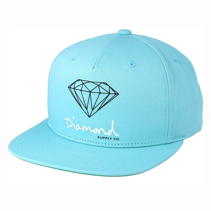 Diamond Supply Co OG Sign Snapback - Diamond Blue