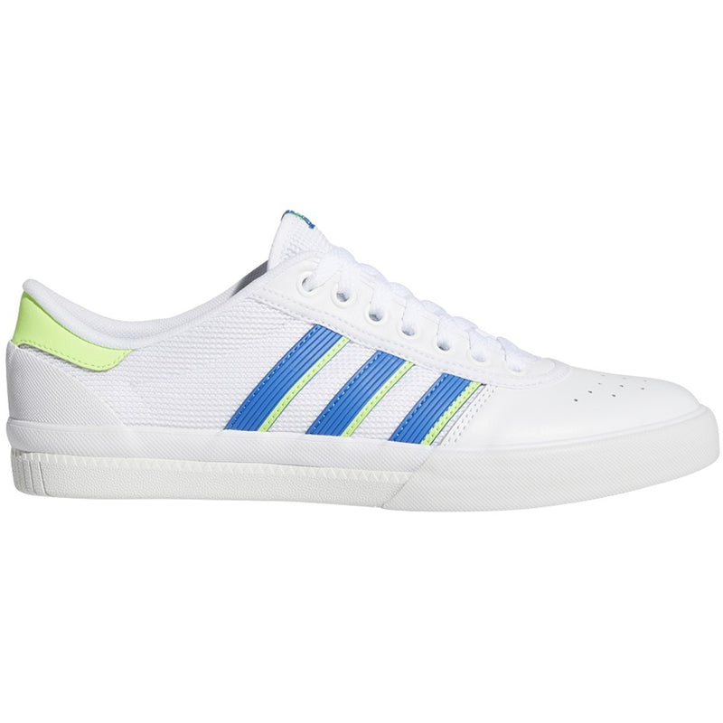 Adidas Lucas Premiere Skateboard Shoes - White/Glory Blue/Signal Green