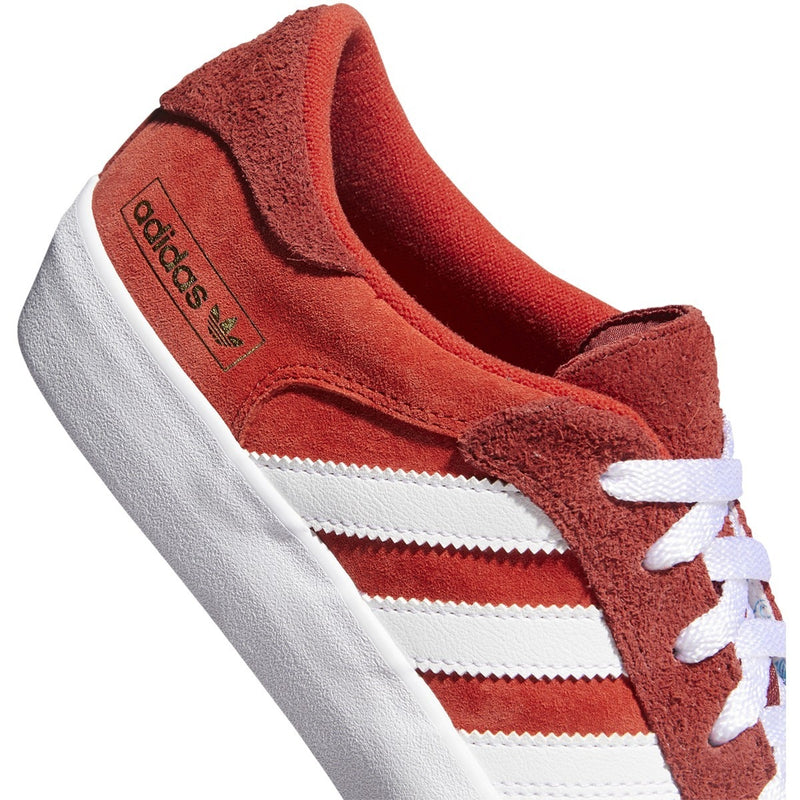 Adidas Matchbreak Super Skate Shoe - Super Brick/White/Gold Metallic