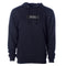 Navy Exodus Embroidered Optical Hoodie