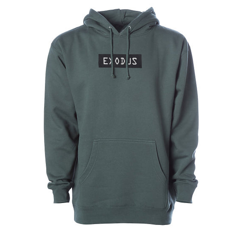 Pine Green Exodus Optical Embroidered Hoodie