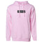 Exodus Embroidered Optical Pink Hoodie