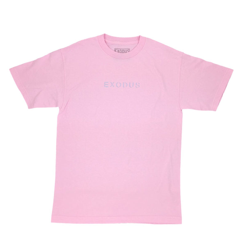 Exodus Offset Center Print Tee -  Pink