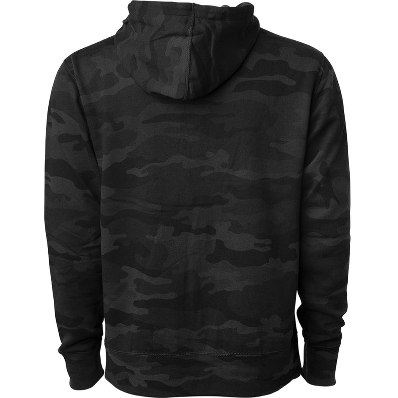 Exodus Optical Embroidered Pullover Hoodie - Black Camo