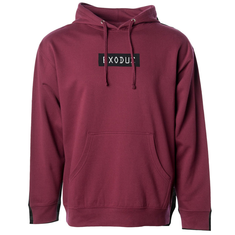 Exodus Optical Embroidered Pullover Hoodie - Maroon