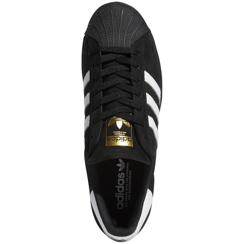 Adidas Superstar ADV Skate Shoe - Core Black/White/Gold Metallic