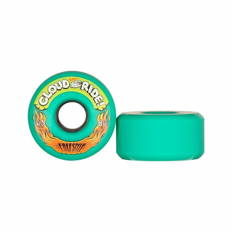 Green 80A Freestyle Cloud Ride Longboard Wheels