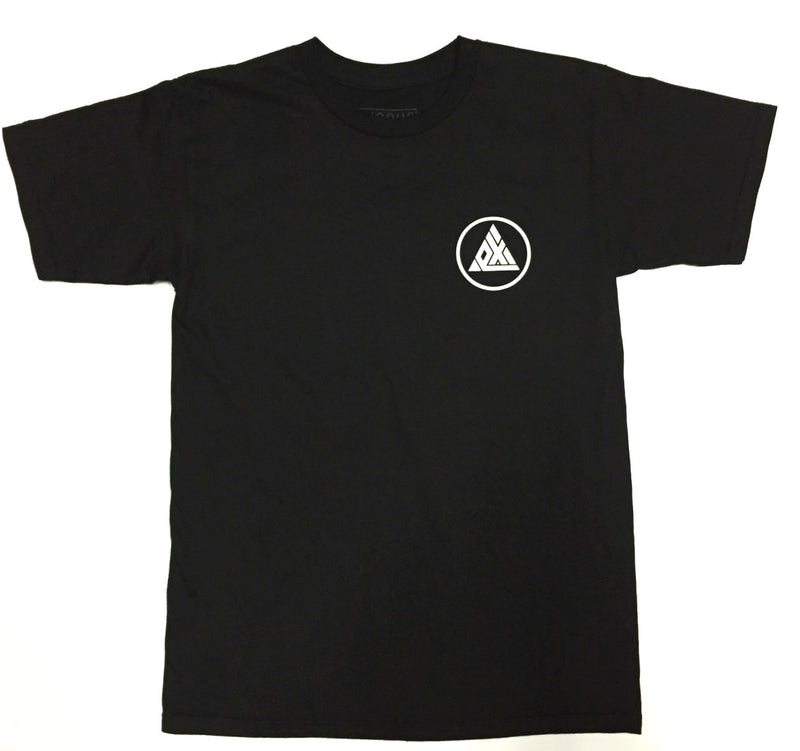Exodus Circle Tee - Black / White