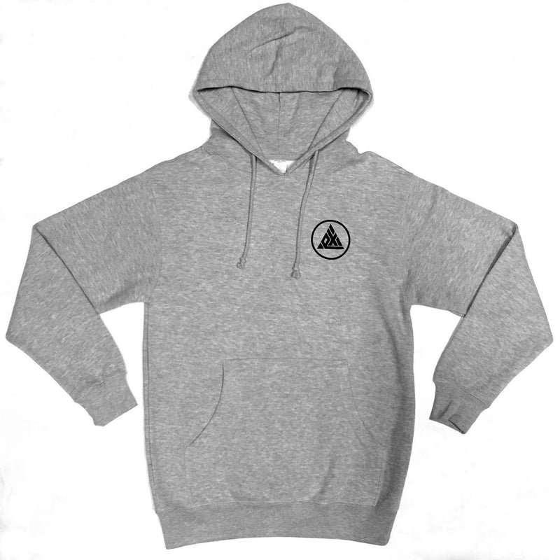 Exodus Circle PO Hoodie - Heather Grey / Black