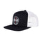 Black and White High Profile Independent Converge Mesh Trucker Hat