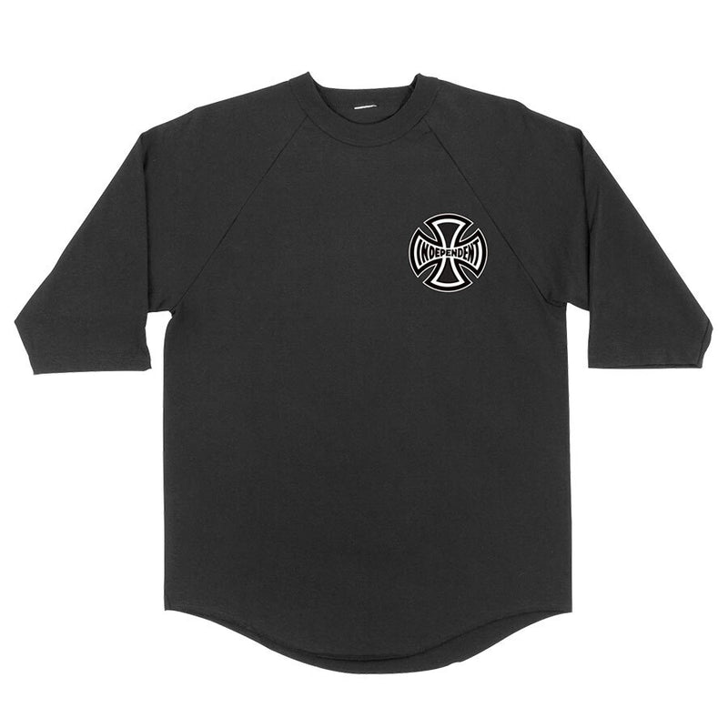 Independent Past- Present- Future 3/4 Sleeve Tee - Black