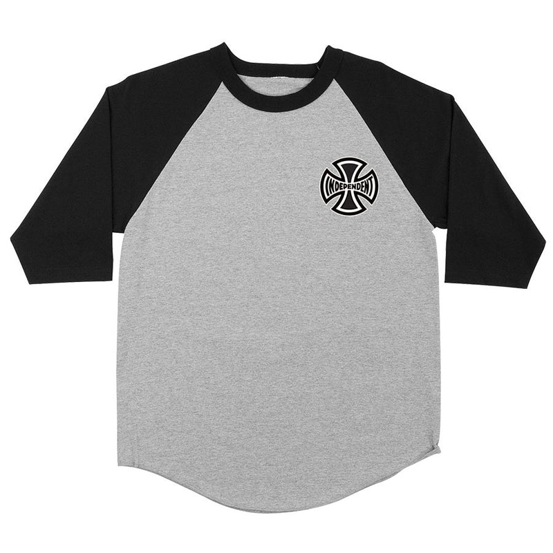 Independent Past- Present- Future 3/4 Sleeve Tee - Grey/Black