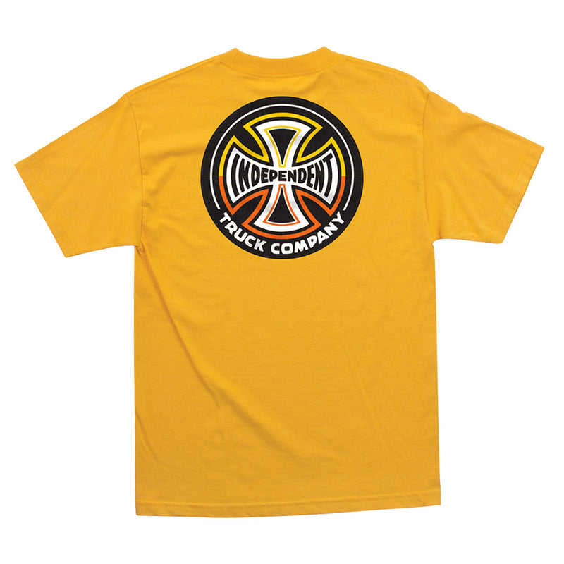 Gold Split Cross Independent Trucks T-Shirt Back