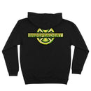 Black Stained Glass Independent Heavyweight Pullover Hoodie Back