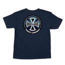 Navy Split Cross Youth Independent Trucks T-shirt Back