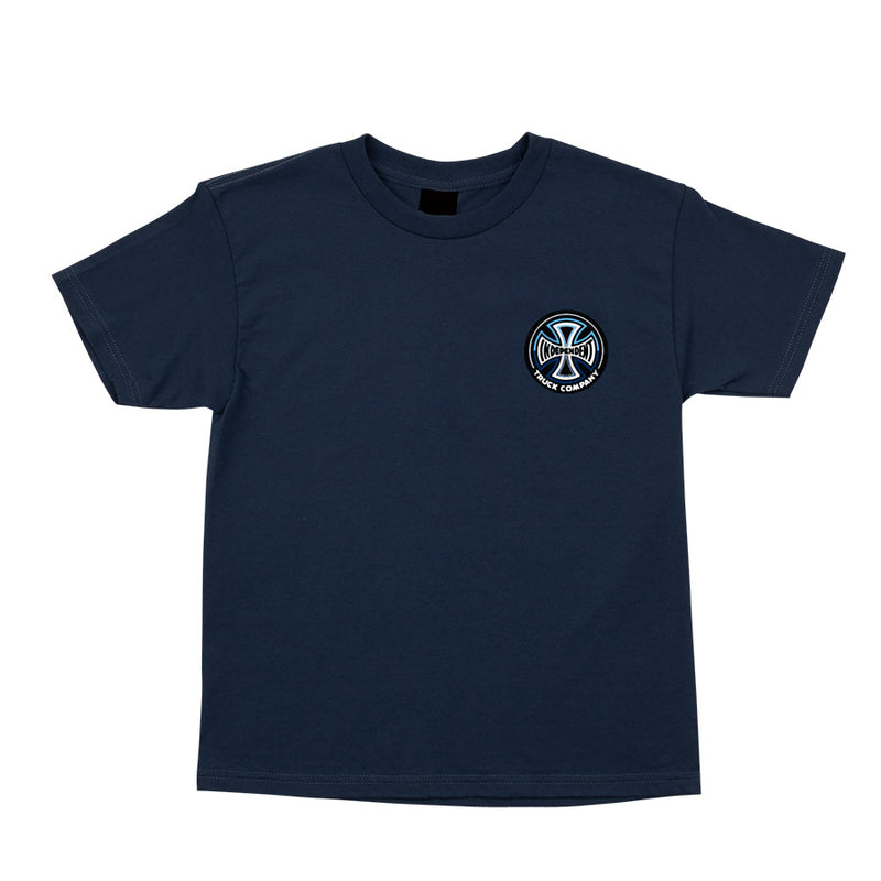 Navy Split Cross Youth Independent Trucks T-shirt