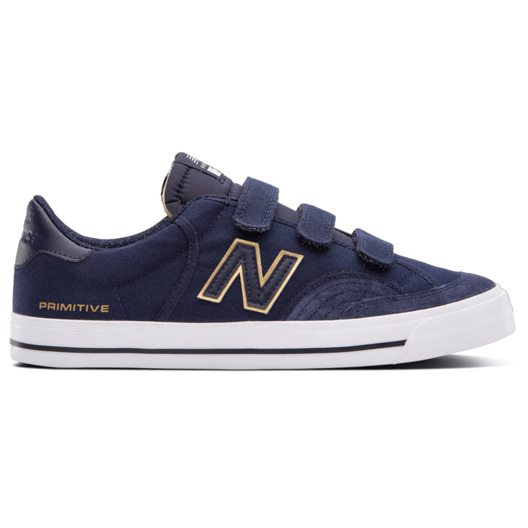Primitive Navy and Gold Velcro NM212 New Balance Numeric Skateboard Shoes