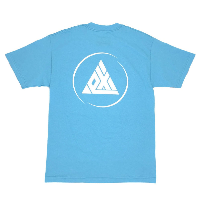 Exodus Offset Circle Logo Tee -  Pacific Blue