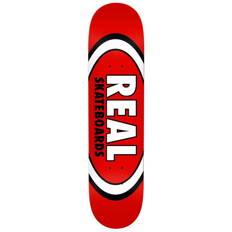Red Classic Oval Real Skateboard Deck
