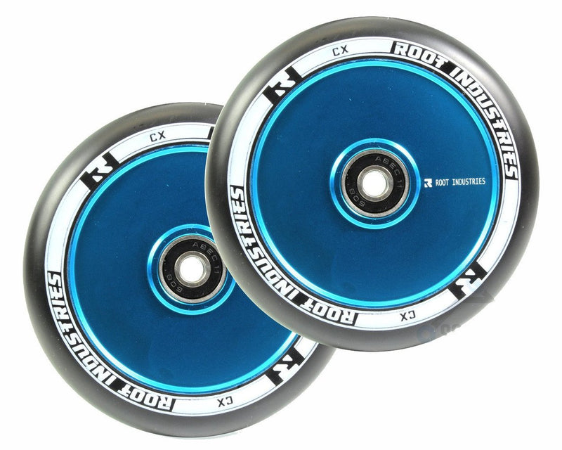 Root Industries Air Scooter Wheels - Black/Blue (Set of 2)
