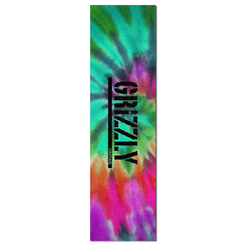 Grizzly Reverse Tie-Dye Stamp Grip Tape