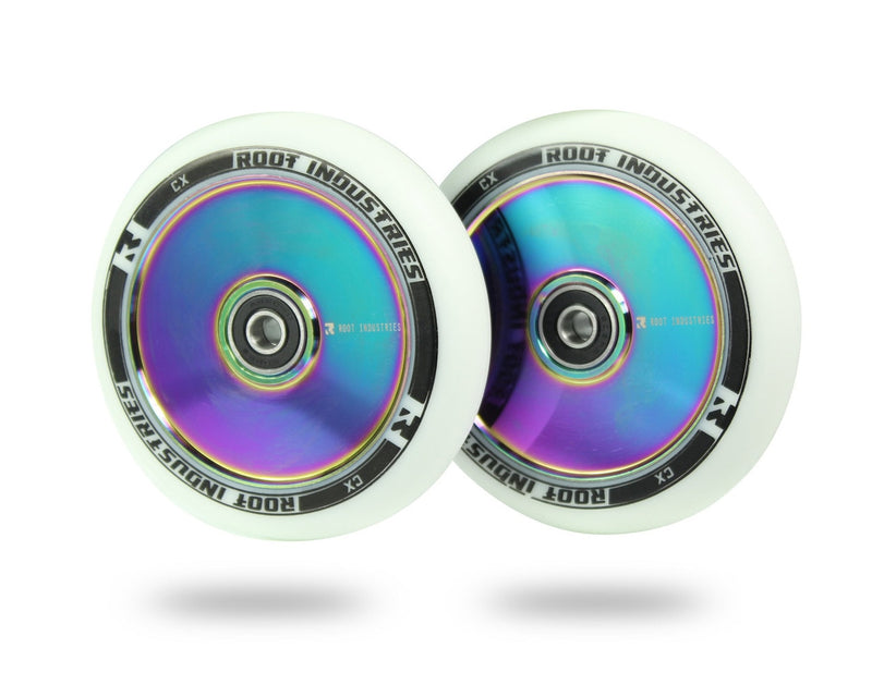Set of 2 White Rocket Fuel Root Industries Air 110mm Scooter Wheels