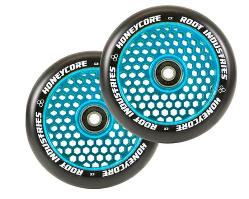Root Industries HoneyCore Scooter Wheels - Black/Blue (Set of 2)