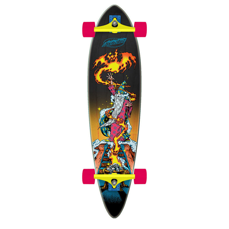 "39"" Fire Wizard Santa Cruz Pintail Longboard"