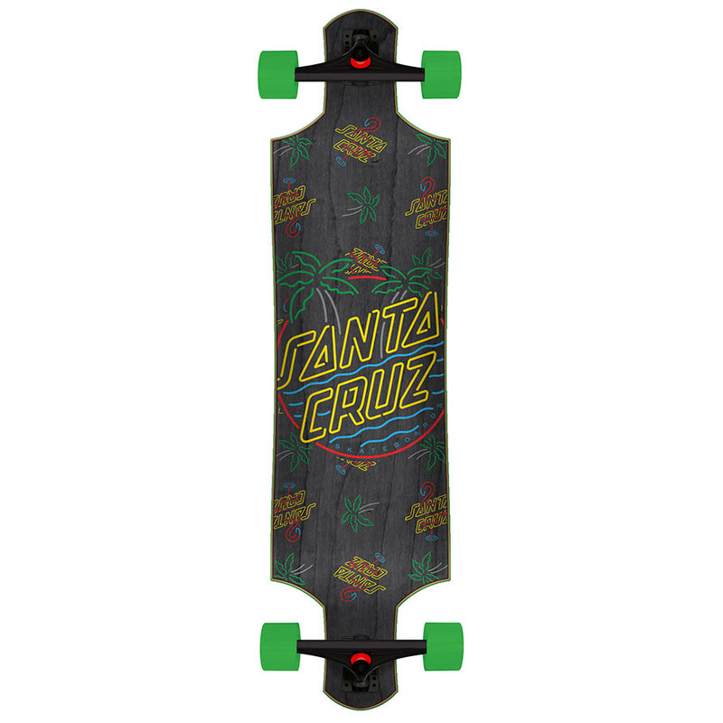 "40"" Glow Dot Santa Cruz Drop Thru Longboard"
