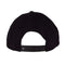 Black Glow Santa Cruz Skateboard Unstructured Snapback Hat Back