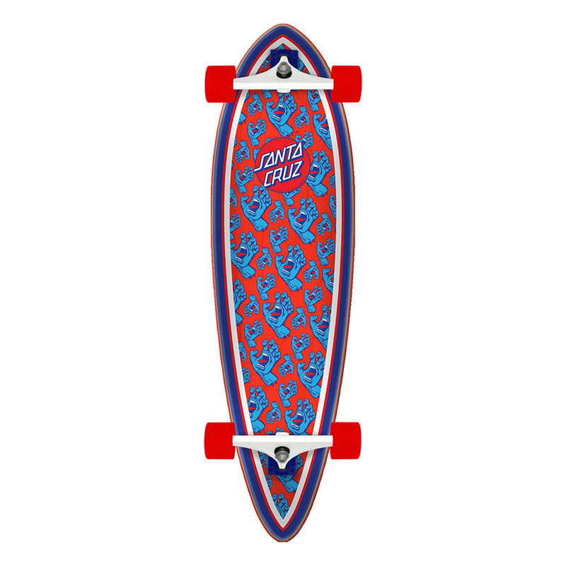 "33"" Hands Allover Santa Cruz Pintail Longboard"